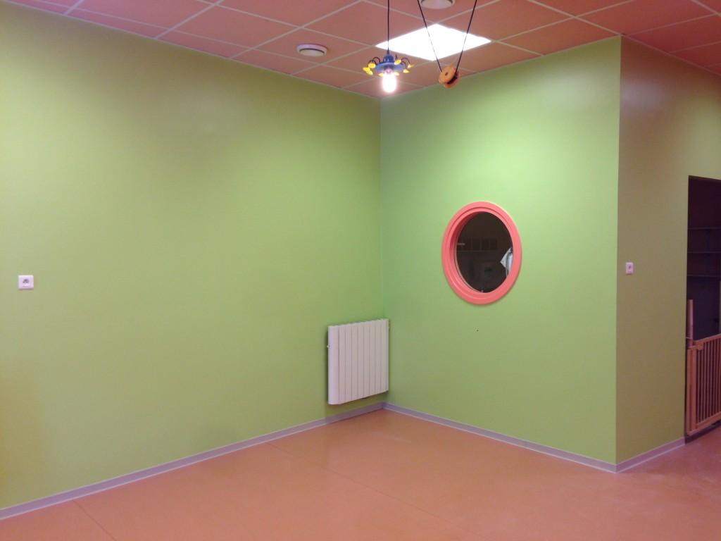 Rénovation d'une crèche, utilisation de couleurs vives.<br /> <br />